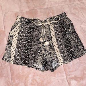 Flowy shorts.